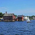 Manufactory Building Rockport Ma Gloucester Harbor Sailboat by Toby McGuire