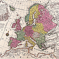 Map Of Europe by The Map House Of London
