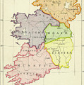 Map Of Ireland Just Before English Invasion In 1588 by Irish School