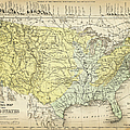 Map Of Usa 1867 by Thepalmer