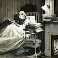 Marcel Proust Sat In Bed Writing Remembrance Of Things Past by English School