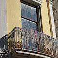 Mardi Gras Beads On Balcony New Orleans by Susan Carella
