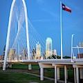 Margaret Hunt Hill Bridge In Dallas  by Harriet Feagin