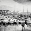 Marina Geneva Switzerland Black And White by Carol Japp