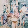 Market Scene  by Edwin Villavera