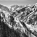 Maroon Bells Canyon Views Black And White by Adam Jewell