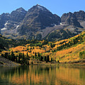 Maroon Bells In Fall by Paula Guttilla