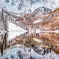 Maroon Bells Peak To Peak - Autumn In Aspen Colorado by Gregory Ballos