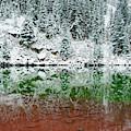 Maroon Lake Winter Reflections - Aspen Colorado by Gregory Ballos