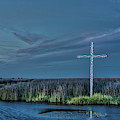 Marsh Cross At Dusk by Jerry Gammon
