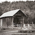 Martin Covered Bridge In Black And White by Jeff Folger