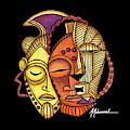 Maruvian Masks 2 Black by Marcella Muhammad