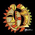 Maruvian Masks 3 Black by Marcella Muhammad