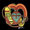Maruvian Masks 5 Black by Marcella Muhammad