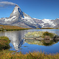 Matterhorn From Lake Stelliesee 07, Switzerland by Bogdan Lazar