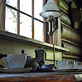 Maud Noble Cabin Table In Grand Teton National Park by Bruce Gourley