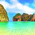 Maya Bay Thailand by Dominic Piperata