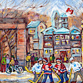 Mcgill University Roddick Gates Original Painting For Sale Hoockey Art C Spandau Canadian City Scene by Carole Spandau