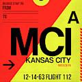 Mci Kansas City Luggage Tag I by Naxart Studio
