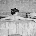 Mcqueen & Adams In Sulphur Bath by John Dominis