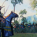 Medieval Army In Battle - 76 by Andrea Mazzocchetti