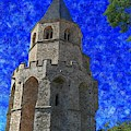 Medieval Bell Tower 4 by Jean Bernard Roussilhe