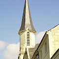 medieval church spire in France by Victor Lord Denovan