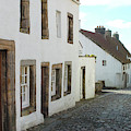 medieval cobbled street in Culross, fife by Victor Lord Denovan