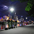 Melbourne Skyline With Yarra River At by 4fr