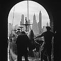 Men Unloading Coffee At Brooklyn Dock by Andreas Feininger