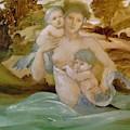 Mermaid With Her Offspring by BurneJones Edward