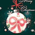 Merry Christmas Ribbon Ornament by Rachel Hannah