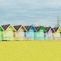 Mersea Island Beach Hut Oil Painting Look 1 by Jonny Essex