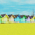 Mersea Island Beach Hut Oil Painting Look 2 by Jonny Essex