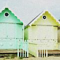 Mersea Island Beach Hut Oil Painting Look 5 by Jonny Essex