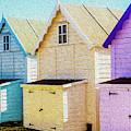 Mersea Island Beach Hut Oil Painting Look 6 by Jonny Essex