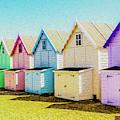 Mersea Island Beach Hut Oil Painting Look 9 by Jonny Essex