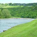 Mertoun Salmon Beat On River Tweed by Victor Lord Denovan
