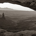 Mesa Arch And Canyonlands Sepia Landscape by Gregory Ballos