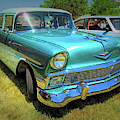 Metallic Green 1956 Chevy Sedan by David King