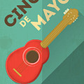 Mexican Guitar. Posters In Retro Style by Vector Posters And Cards
