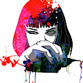 Mia Snorting Watercolor by Naxart Studio