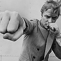 Michael Caine Throwing A Punch by Stephan C Archetti