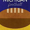 Michigan Football Minimalist Retro Sports Poster Series 001 by Design Turnpike