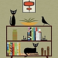 Mid Century Bookcase  by Donna Mibus