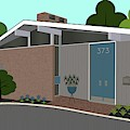 Mid Century Modern House 5 by Donna Mibus