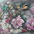 Mid-winter Artist's Garden Flowers by Ryn Shell