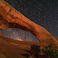 Milky Way Framed By Wilson Arch by Dan Norris