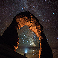 Milky Way Illumination At Delicate Arch by Mike Berenson / Colorado Captures