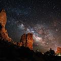 Milky Way Suspension At Balanced Rock by Mike Berenson / Colorado Captures